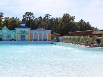VIP Seating on the Right Side of the Wave Pool
